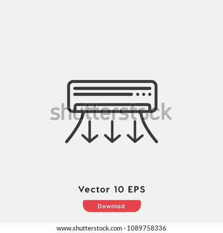 Air Conditioner Icon Vector Conditioner Symbol Stock Vector Hd