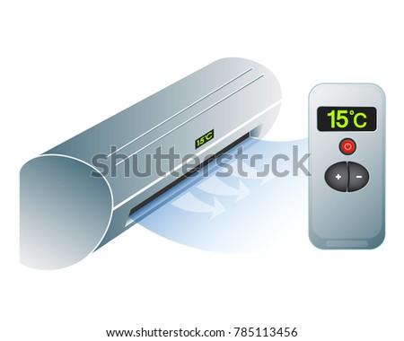 Air Conditioning Home Remote Control Symbol Stock Vector 2018