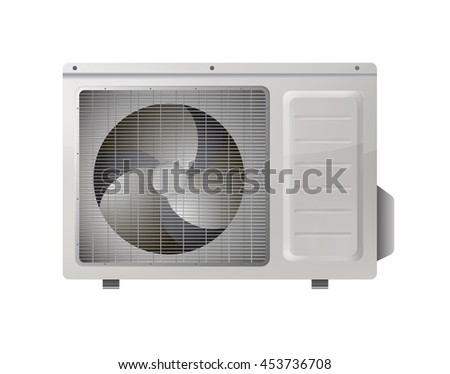 Air conditioning  isolated on white background. conditioner system realistic vector object on white background