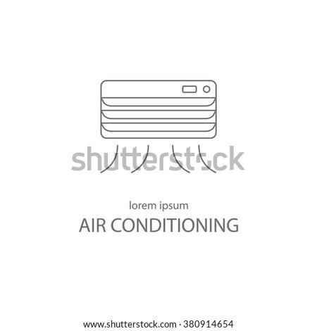 Air conditioning service logotype design templates. Modern easy to edit logo template. Vector logo design series. - stock vector