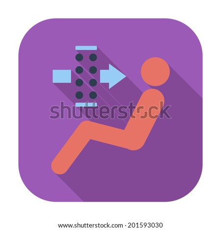 Air filter. Single icon. Vector illustration.