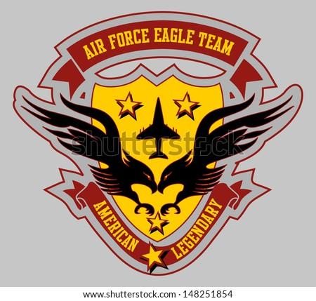 air force eagle team vector art - stock vector