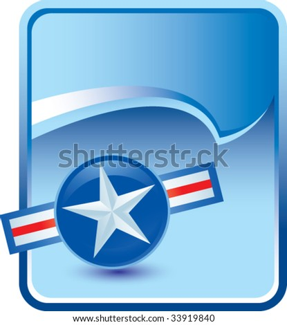 air force icon on background with rip curl - stock vector