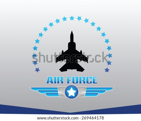air force illustration - stock vector