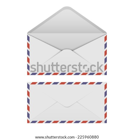Air mail envelope on white background.vector - stock vector