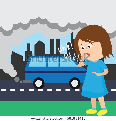 air pollution poster stock vector 581831413 shutterstock rh shutterstock com air pollution prevention clipart air pollution pictures clip art