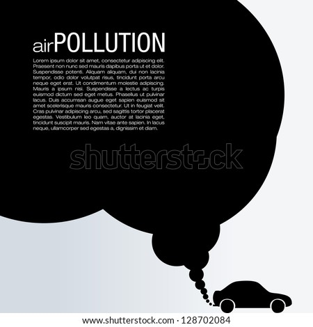 Air Pollution Vector Design - stock vector