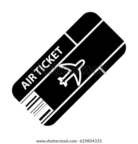 Air Ticket Icon Stock Vector 629804333