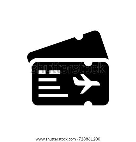 Air Ticket Icon Vector Isolated On White Background