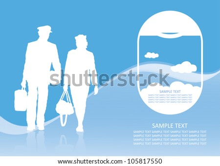 Air transport background - vector illustration - stock vector