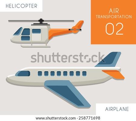 Air Transportation Flat Vector 02 - stock vector
