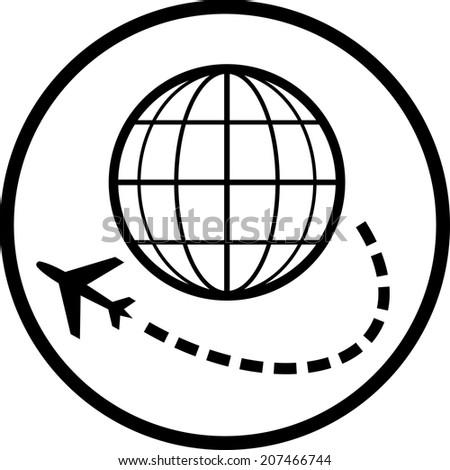 Air travel destination vector icon - stock vector