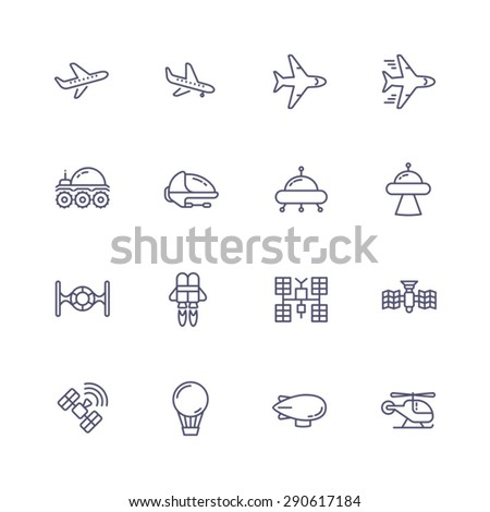 Air vehicles - stock vector