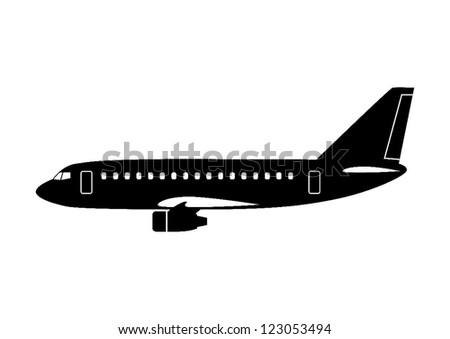 Aircraft icon - stock vector