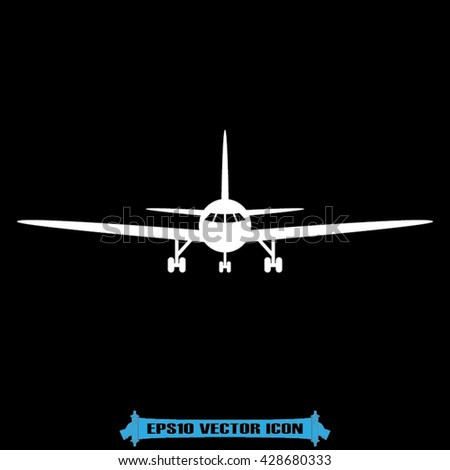 Aircraft icon vector illustration