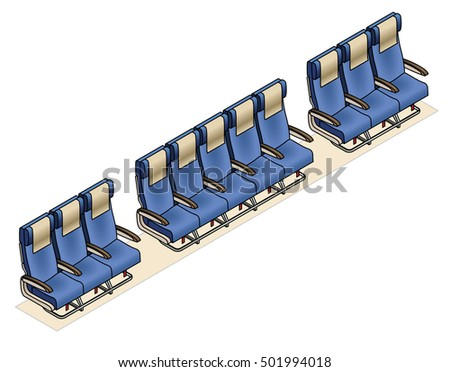 Aircraft seating row configuration: 3 - 5 - 3