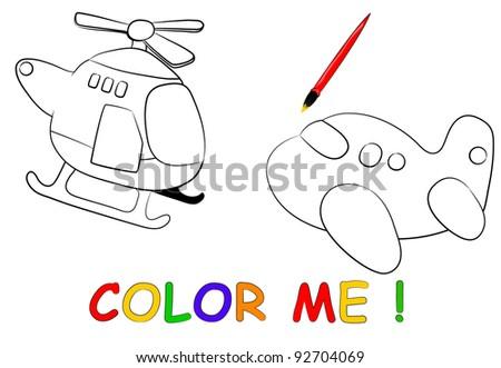aircraft sketch. cute travel theme - stock vector