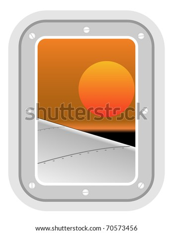 aircraft window. vector illustration 4 - stock vector