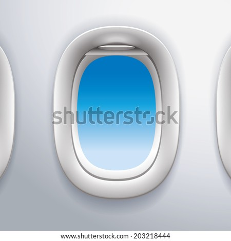 Aircraft Windows,airplane windows - stock vector