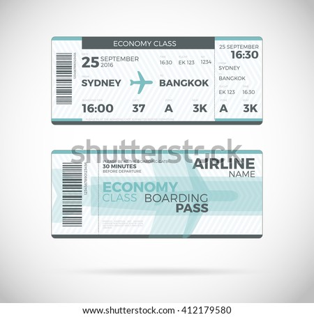 Blank Boarding Pass Stock Images, Royalty-Free Images & Vectors