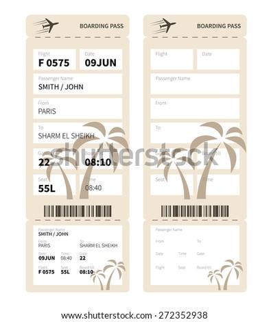 boarding pass sleeve template - cruises paradise cruise ship boarding pass stock vector