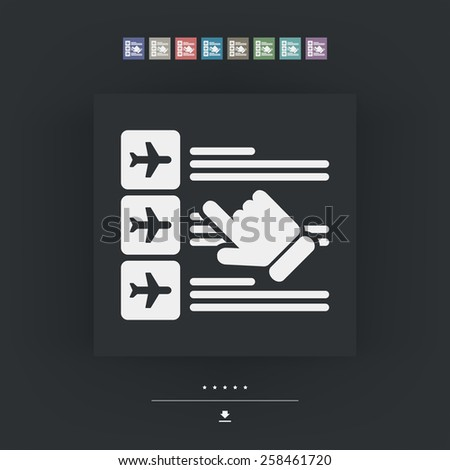 Airline booking icon - stock vector