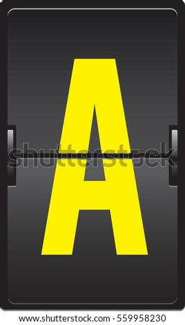 Airline flip flap board-letter A