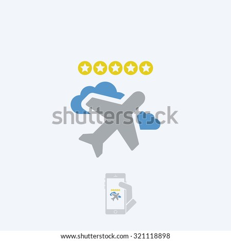 Airline rating - stock vector