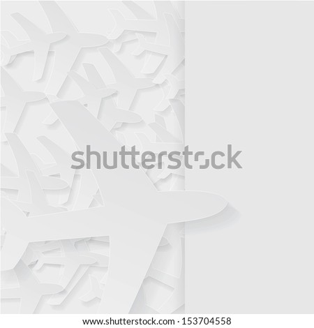 Airlines background - stock vector