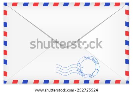 Airmail envelope - back side - vector - stock vector