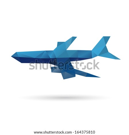 Airplane abstract isolated on a white backgrounds, vector illustration - stock vector