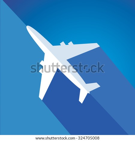 Airplane and colors - stock vector