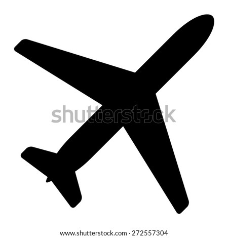 Airplane aviation flat icon for apps and websites - stock vector