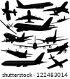 airplane collection - vector - stock