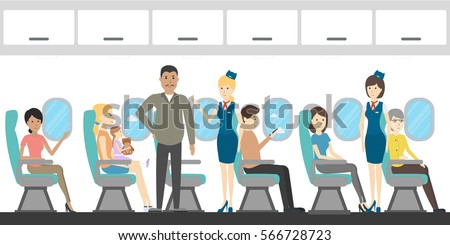 Inside Airplane Stock Images Royalty Free Images