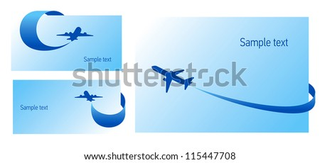 airplane flight tickets air fly cloud sky blue white travel blank background takeoff - stock vector
