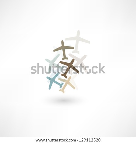 Airplane icon - stock vector