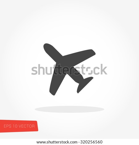 Airplane Icon / Airplane Icon Object / Airplane Icon Picture / Airplane Icon Image / Airplane Icon Graphic / Airplane Icon Art / Airplane Icon JPG / Airplane Icon JPEG / Airplane EPS / Airplane AI - stock vector