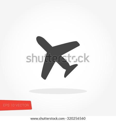 Airplane Icon / Airplane Icon Object / Airplane Icon Picture / Airplane Icon Image / Airplane Icon Graphic / Airplane Icon Art / Airplane Icon JPG / Airplane Icon JPEG / Airplane EPS / Airplane AI - stock vector