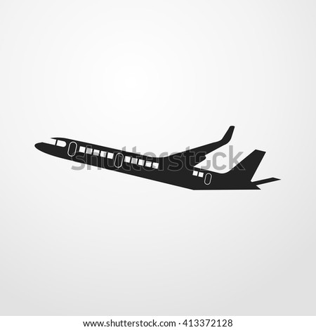 airplane icon. airplane sign - stock vector