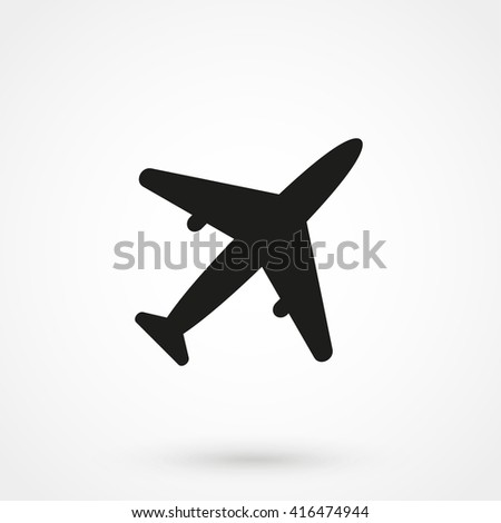 airplane Icon isolated on background. Modern flat pictogram, business, marketing, internet concept. Trendy Simple vector symbol for web site design or button to mobile app. Logo illustration - stock vector