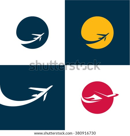 Airplane icons. Airlines. Plane - stock vector