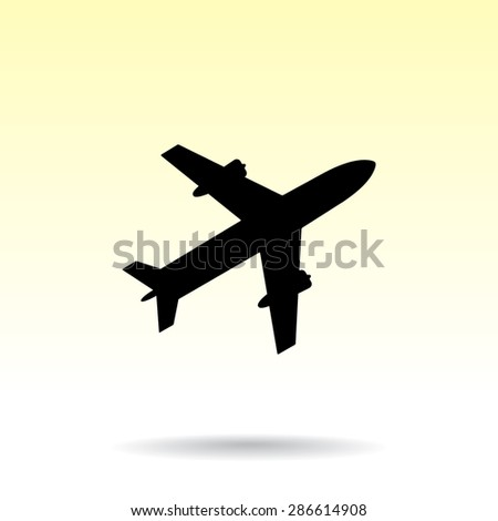 Airplane sign icon, vector illustration. Flat design style  - stock vector