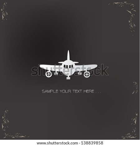 Airplane sign,vector - stock vector