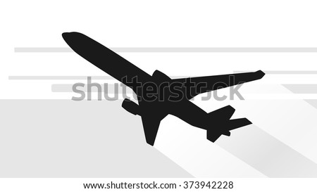 Airplane Silhouette / EPS10 Vector - stock vector