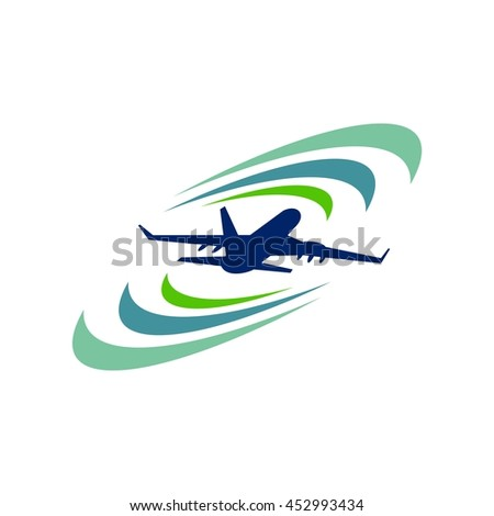 Airplane - Stock vector logo template concept illustration.