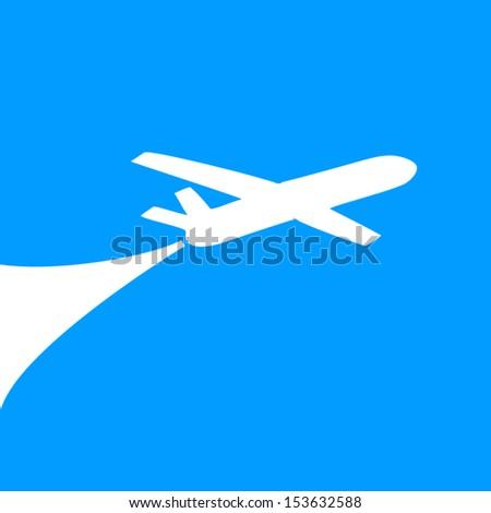 Airplane symbol design. vector  - stock vector