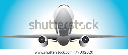 Airplane take off  Vector. - stock vector
