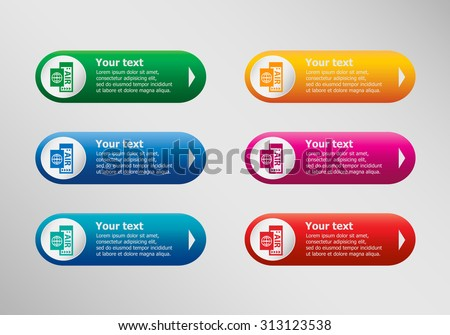Airplane ticket icon and infographic design template, business concept.  - stock vector