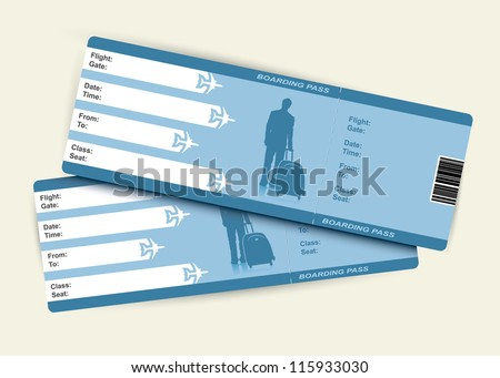 Airplane tickets - vector illustration - stock vector